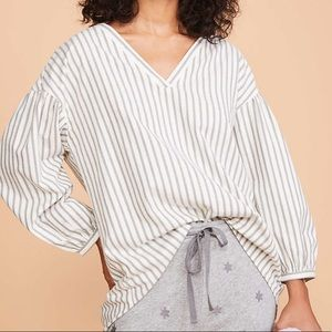 LOFT Striped S-Neck Shirt
